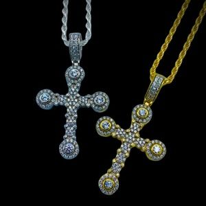 Other - 925 Sterling Silver Unique Cross Pendant